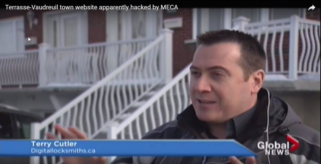 Terrasse-Vaudreuil town website apparently hacked by MECA