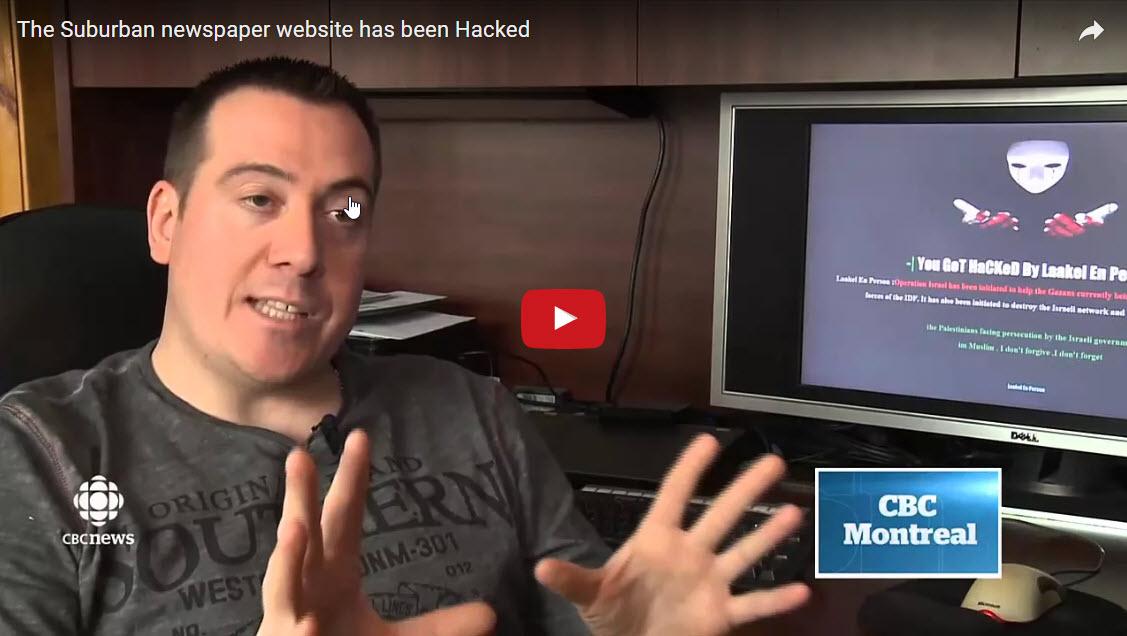 The Suburban newspaper website has been Hacked
