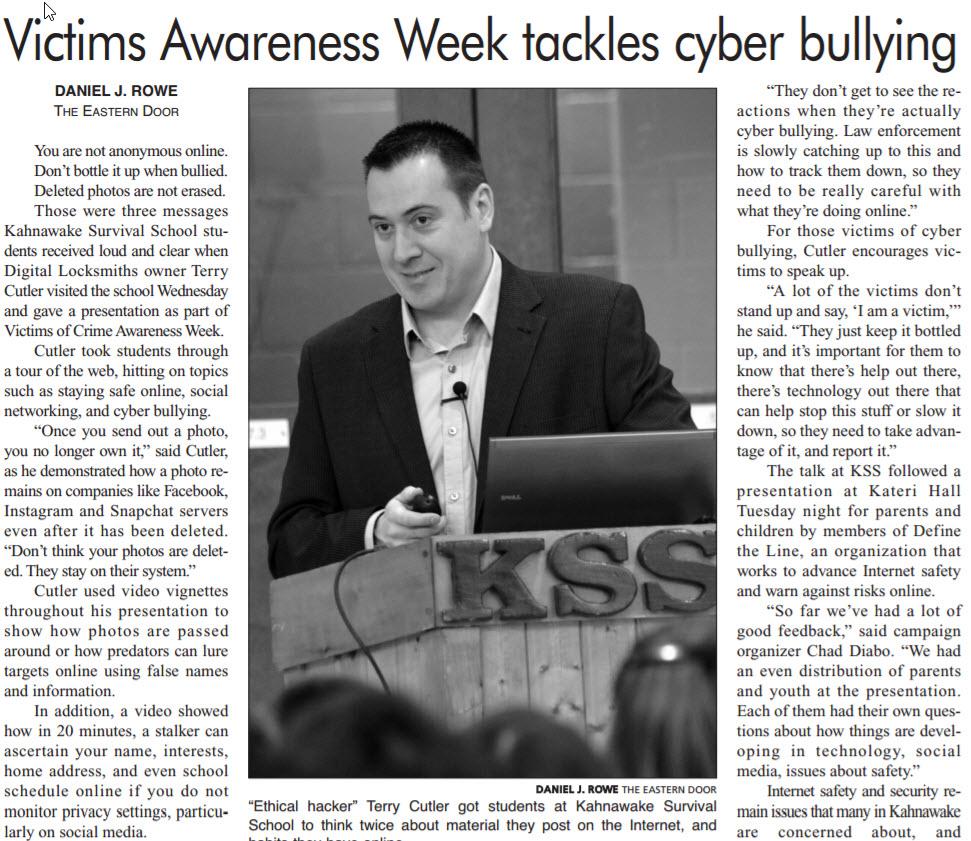 Victims Awareness Week tackles cyber bullying