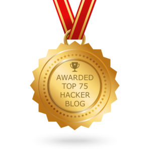 - top hacker blog transparent 1000 300x300 - TerryCutler blog selected by Feedspot panelists as one of the Top 75 Hacker Blogs on the web