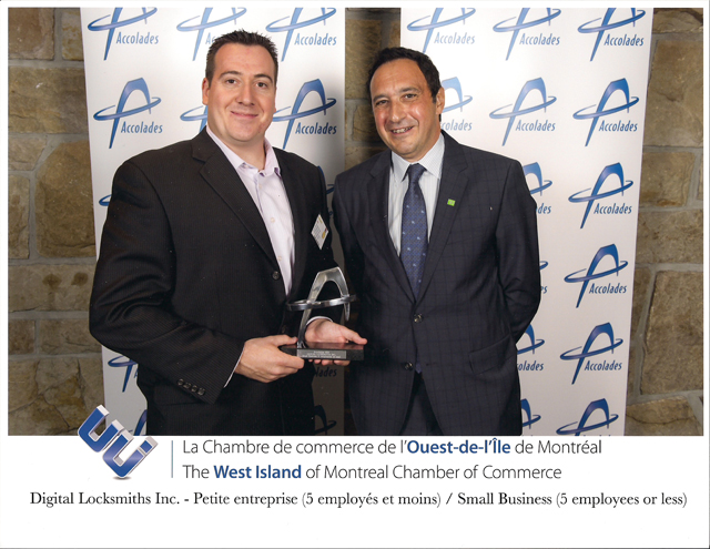 Digital Locksmiths wins Accolades 2012 Awards in the Small Business Category