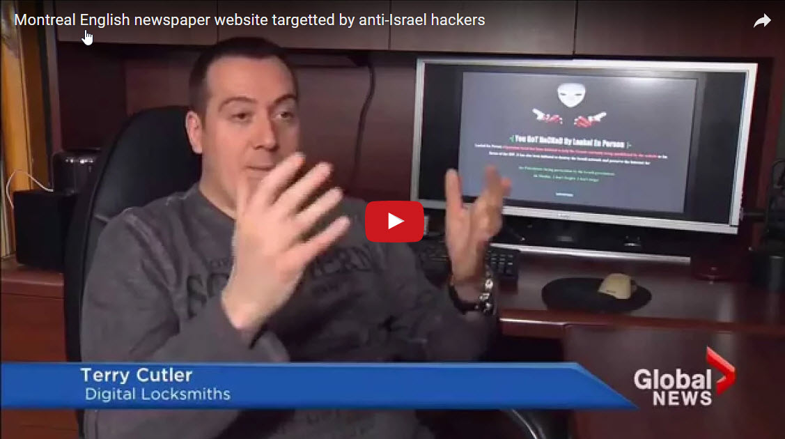 Montreal English newspaper website targetted by anti-Israel hackers
