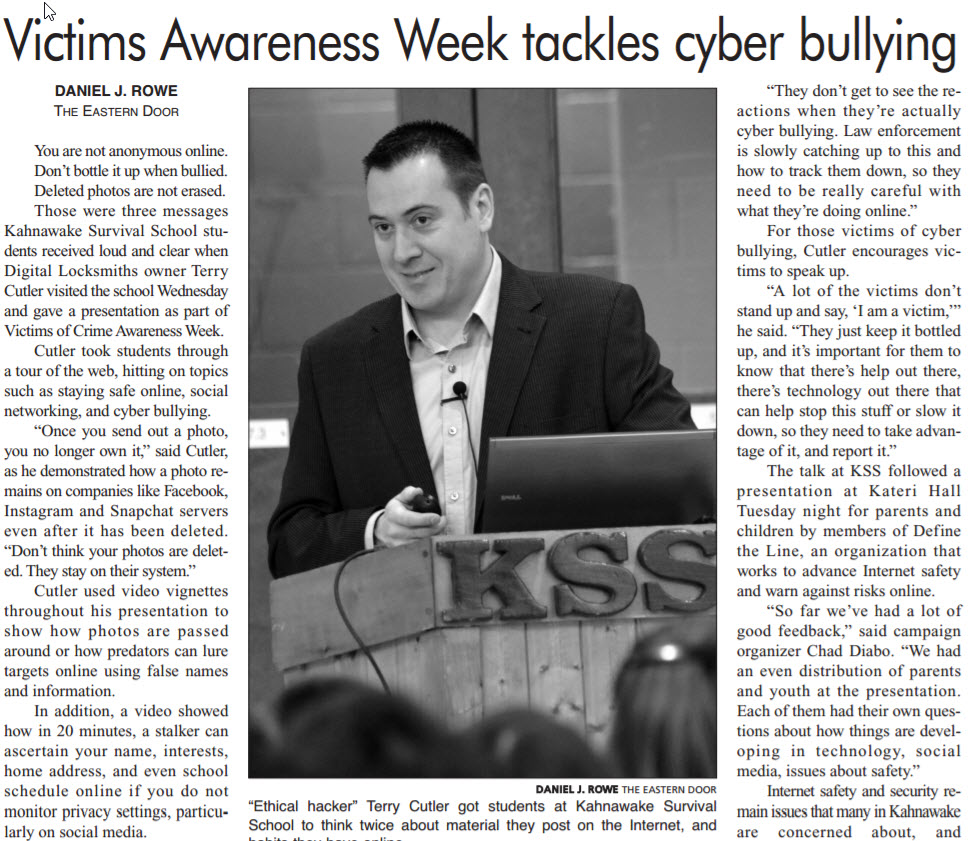 Victims Awareness Week tackles cyber bullying
