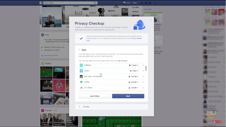 Facebook Privecy Check-Up